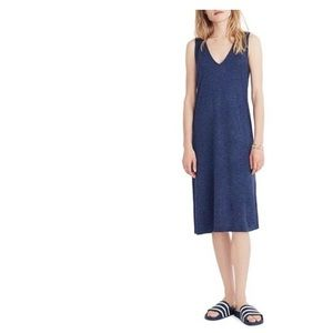HP🎉 Madewell blue sleeveless V-neck dress XXL